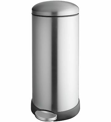 Addis 30 Litre Retro Pedal Bin - Stainless Steel -From the Argos Shop on V100858