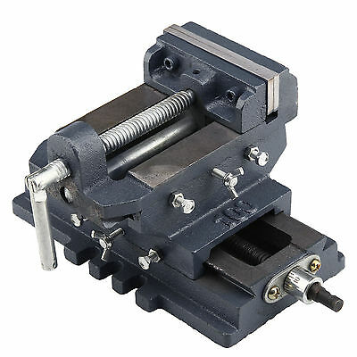 100mm 4 Inch Cross Slide Engineering Working Vice Cast Iron Body Tool Vise Clamp