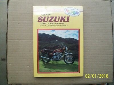 New Clymer workshop manual for SUZUKI GS1000 chain drive fours 1978/79. M375.
