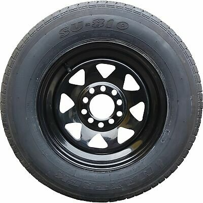 "13x4.5"" Ford HT Holden Wheel Rim and 165R13c LT Tyre BLACK Trailer Caravan Boat"