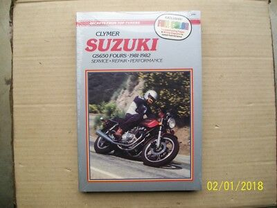 Clymer workshop manual for SUZUKI GS650cc fours, 1981/82, chain & shaft drive