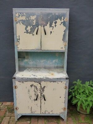 Utility Metal Kitchen Dresser Retro Vintage Furniture