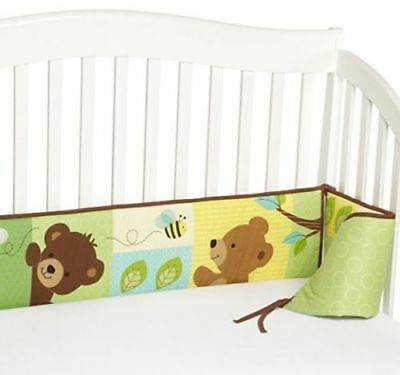 Bedtime Originals Honey Bear 4 Piece Bumper, Brown/Green Crib Bumper