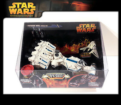 STAR WARS Revenge of the Sith (ROTS) MICRO VEHICLES: Mustafar Duel (OVP)
