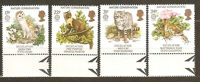 Collectible Great Britain 1986 Europa Stamps:Owl,Pine Marten,Cat,Natterjack Toad