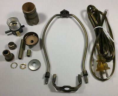table lamp wiring kit w 10 antique finish harp 3 way socket rh picclick com 3-Way Lamp Wiring Diagram Wiring Diagram with Lighted Base Lamp
