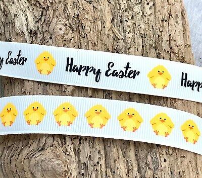 Happy Easter Ribbon Chicks Gift Wrap Craft Chocolate Eggs Bow Decoration Card