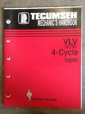Genuine Tecumseh Technician's Handbook 4-Cycle For VLV Engines OEM