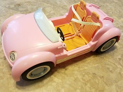 2006 Mattel Barbie Beach Glam Cruiser Pink Convertible Sports Car