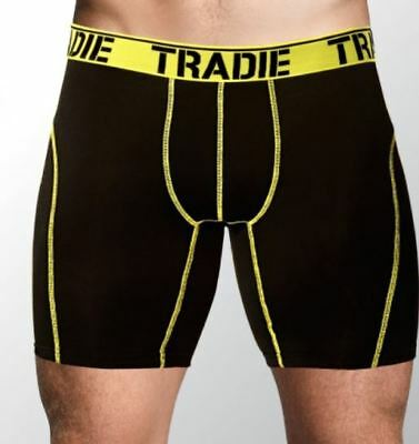 3 Pack: Tradie Sports No Chafe Trunks - No Chafe.Sports Trunks.Free Postage.New.