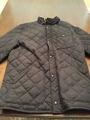 Gap Men's Mid-Weight Quilted Jacket in Navy - Size Large