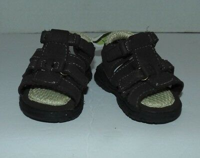 0-3 MONTHS NEXT BABY BOYS BROWN SANDALS SHOES SIZE 0