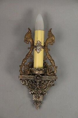 Antique Spanish Revival Single Sconce With Dragon Head Motif Circa 1920s (10922)