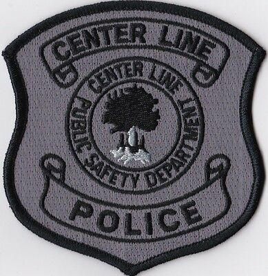 Center Line Public Safety Dept. black border MI Police Michigan Patch NEW!