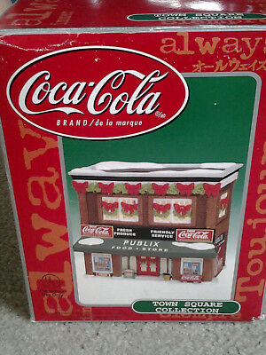 COCA COLA TOWNE SQUARE LIGHTED VILLAGE BUILDING PUBLIX FOOD STORE original box!!