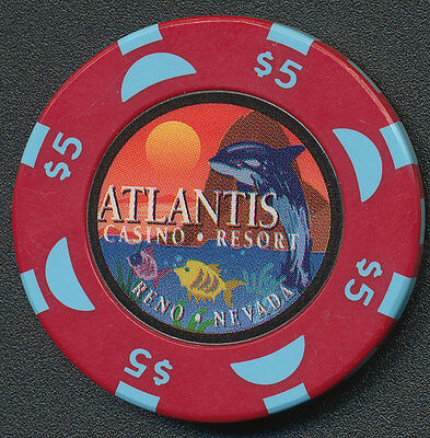 Atlantis Casino Reno $5 Chip - 1996 No BJ
