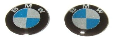 2 x BMW KEY BADGE logo emblem replacement sticker Remote fob 1 3 5 6 series 11mm