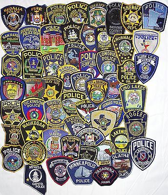 57 pieces mixed LOT  USA/International Police Departments  patches NEW!!