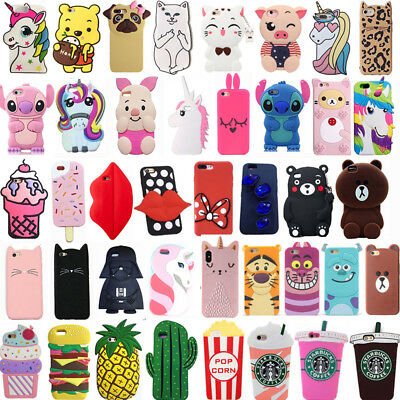 For Samsung Galaxy J1 J2 J3 J5 J7 Cute 3D Cartoon Soft Silicone Phone Case Cover