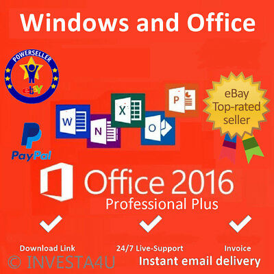 Office Professional Plus 2016 - W/scrap, Genuine, Lifetime Key 100% ORIGINAL
