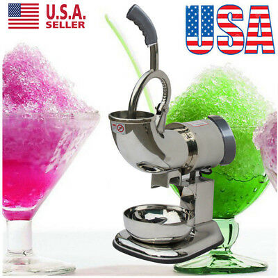 2018 Electric Ice Shaver Machine Snow Cone Maker Crusher Cold Drink -440lbs  BP