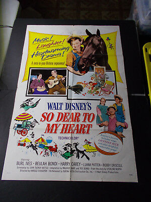 X    Disney's So Dear To The Heart  -1-Sheet Movie Poster Vintage