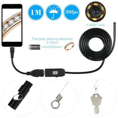 IP67 5.5mm 6LED Lens Endoscope USB Camera Borescope for Android Smart Phone Y3W7