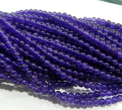 "4mm Russican Amethyst Gemstone Round Loose Beads 15"" AA"