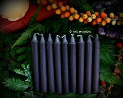 CANDLES BLACK WISH SPELL ALTAR RITUAL Set of 9 Wicca Pagan Metaphysical Witch
