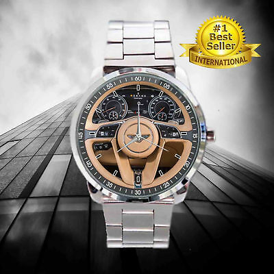 New 2018 hot 2017 Bentley Bentayga First Drive Steering Wheel Sport Metal Watch