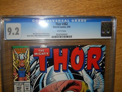 05/1993 The Mighty Thor #462 May Graded Comic Book 9.2. CGC Universal Grade