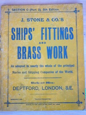 OLD HARDCOVER SHIPS FITTINGS & BRASSWORK CATALOGUE, BROCHURE (i157)