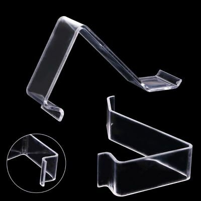 Clear L- shape Acrylic Shoes Ract Holder Retail Shop Display Plastic Stand Shelf