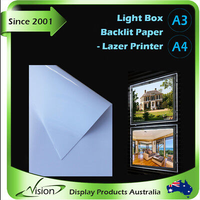 ✅A3 A4 LED Panel Backlit Paper  Backlit Film for Light Box Real Estate -laser