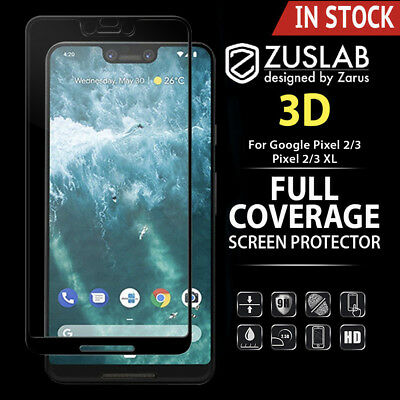 Google Pixel 2 2 XL Genuine ZUSLAB 3D Tempered Glass Full Cover Screen Protector