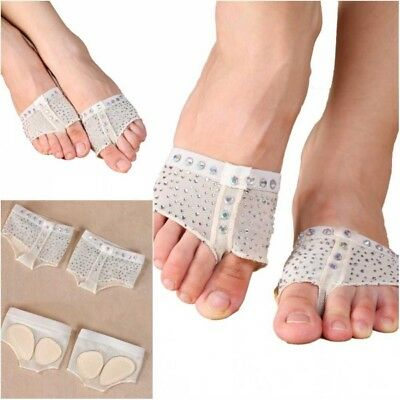 1Pair Belly Ballet Dance Paws Cover Forefoot Toe Undies Thong Half Lyrical Shoes