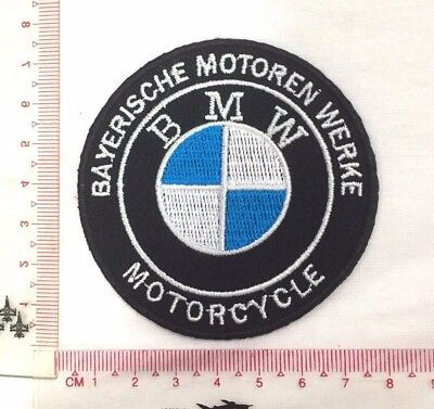 BMW Motorcycle Bayerische Emblem Sew Iron-On Embroidered Applique Patch Badge