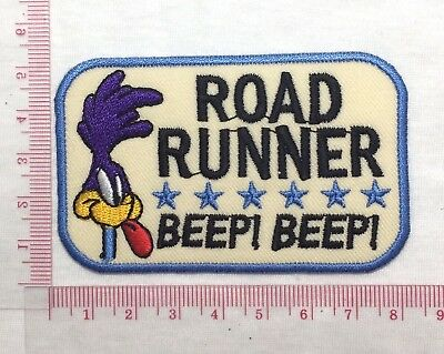DIY Road Runner Beep Beep Emblem Sew Iron-On Embroidered Applique Patch Badge