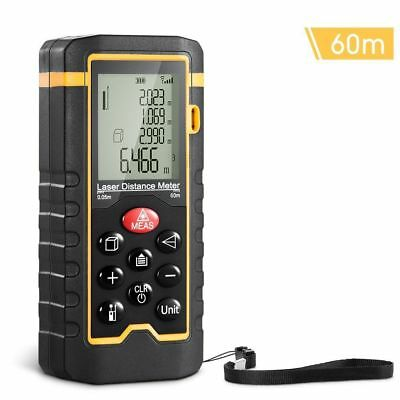 Laser Distance Measurement Meter 0.05 to 60m LCD Display Bubble Level