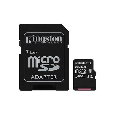 Kingston Canvas Select (64GB) MicroSD Card Class 10 UHS-1 U1 with Adapter