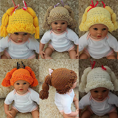 New Cabbage Patch Dolls Hat Knit Crochet Baby Hat Broccoli Hat Wig Hat 0-5 Year