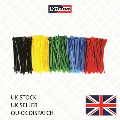 100x Cable Ties Zip Tie Wraps Black Natural Coloured 100mm 200mm 300mm