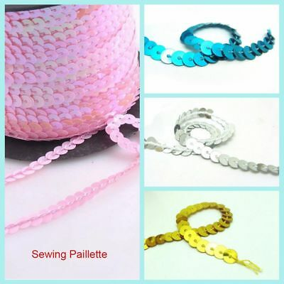 2pcs/set Shiny Sewing Paillette Wedding Faceted Bead Loose Sequin