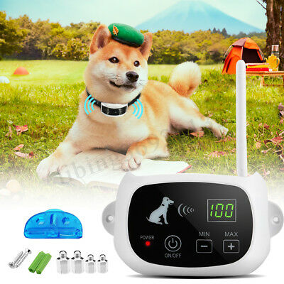 Waterproof Wireless 1/3 Dog Fence Containment System Electric Transmitter Collar