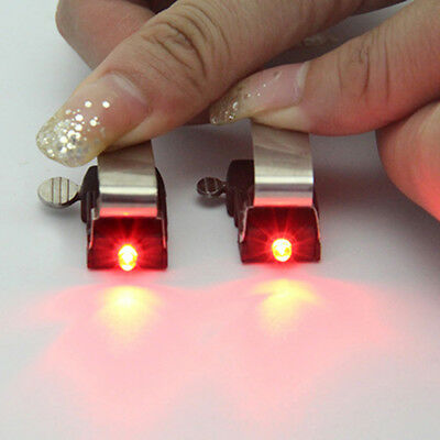For V&C Calipers Road Red Bicycle Bike Nano Brake LED Light w/ mini Battery lot-