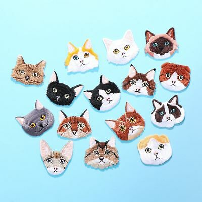 Decoration Sew On Cat Head Patches Iron-On Patch Applique Badge Stickers