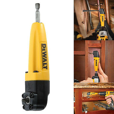 Right Angle Drill Adapter Dewalt Attachment Tool Tight Spaces Lightweight Metal