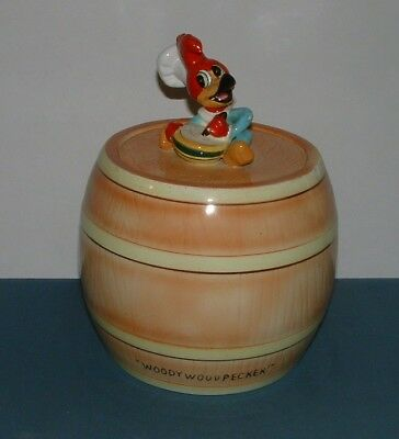 Woody Woodpecker Cookie Jar - Hand Painted Fine China (Japan) - Good Condition