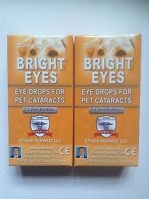 Eye Drops Bright Eyes for Cataracts Dogs Ethos NAC Bright Eyes 2 Boxes 20 ml