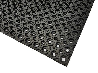 EVERMAT® Large Heavy Duty Industrial 100% Rubber Safety Floor Mat 6' x 3.3'